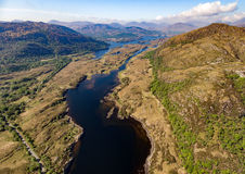 Aerial view Killarney National Park on the Ring of Kerry, Ireland. Stock Image