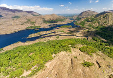 Aerial view Killarney National Park on the Ring of Kerry, Ireland. Royalty Free Stock Images