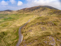 Aerial view Killarney National Park on the Ring of Kerry, Ireland. Stock Photos