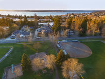 Aerial view of Kirkland Residential area. Royalty Free Stock Image