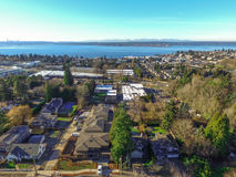 Aerial view of Kirkland Residential area. Royalty Free Stock Photos