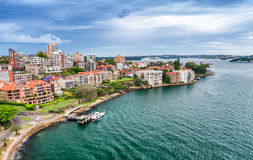 Aerial view of Kirribilli buildings Royalty Free Stock Images