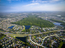 Aerial view of Kissimmee Florida. Aerial drone photograph of Kissimmee, Florida Stock Image
