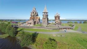 Aerial view of Kizhi island Stock Photos