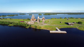 Aerial view of Kizhi island royalty free stock image