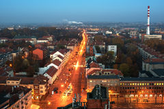 Aerial view of Klaipeda, Lithuania Stock Images