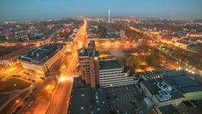 Aerial view of Klaipeda, Lithuania Royalty Free Stock Photo