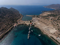 Aerial view of Knidos, Turkey Stock Photography