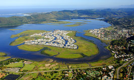 Aerial view of Knysna in the Garden Route Royalty Free Stock Images