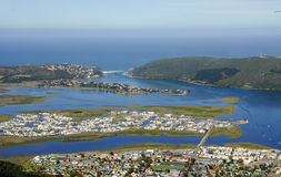Aerial view of Knysna in the Garden Route Stock Image