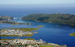 Aerial view of Knysna in the Garden Route Stock Photos