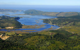 Aerial view of Knysna : South Africa Royalty Free Stock Photo
