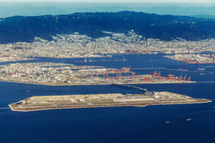 Aerial view of Kobe Airport in Kobe Stock Image