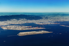Aerial view of Kobe Airport in Kobe Royalty Free Stock Image