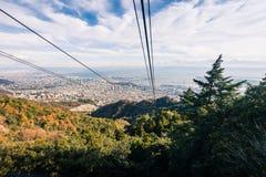 Aerial view of Kobe City Royalty Free Stock Photos