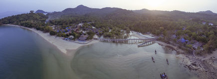 Aerial view of koh payam island ranong southern of thailand Royalty Free Stock Images
