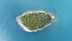 Aerial view of Koh Pu Carb Island near Kata beach in Phuket Royalty Free Stock Images