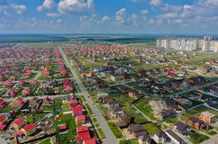 Aerial view on Komarovo housing estates. Tyumen Stock Photos