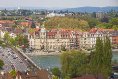 Aerial view of Konstanz city, Germany Stock Photography
