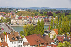 Aerial view of Konstanz city, Germany Stock Photo