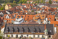 Aerial view of Konstanz city, Germany Royalty Free Stock Images