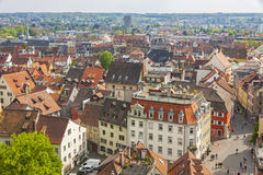 Aerial view of Konstanz city (Germany) and Town of Kreuzlingen ( Royalty Free Stock Photography
