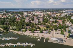 Aerial view of Kotka. Small town in southern Finland Royalty Free Stock Photography