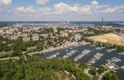 Aerial view of Kotka. Small town in southern Finland Stock Photo