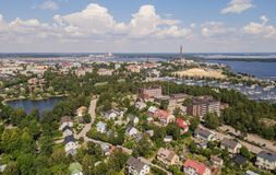 Aerial view of Kotka. Small town in southern Finland Royalty Free Stock Photo