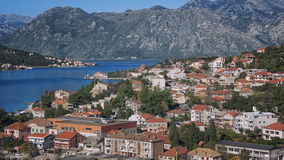 Aerial view of Kotor Bay Royalty Free Stock Photo
