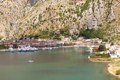 Aerial view on Kotor - Montenegro Stock Images