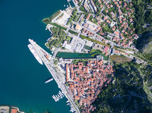 Aerial view of Kotor Royalty Free Stock Photos