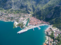 Aerial view of Kotor Stock Image