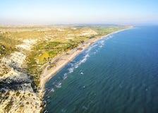 Aerial view of Kourio, Limassol, Cyprus Royalty Free Stock Photo