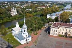 Aerial View of Kremlin Square, Vologda, Russia Stock Image