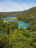 Aerial view of Krka National Park in Croatia Royalty Free Stock Photos