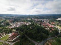Aerial view of Kuala Krai town. Located in Kuala Krai, Kelantan, malaysia Royalty Free Stock Photo