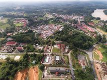 Aerial view of Kuala Krai town. Located in Kuala Krai, Kelantan, malaysia Stock Image