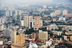Aerial view of Kuala Lumpur Royalty Free Stock Images