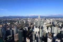 Aerial view of Kuala Lumpur city from KL Tower Royalty Free Stock Images