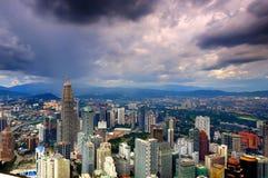 Aerial view of Kuala Lumpur City Stock Photography
