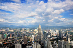 Aerial view of Kuala Lumpur City Royalty Free Stock Photo