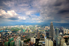 Aerial view of Kuala Lumpur City Stock Images