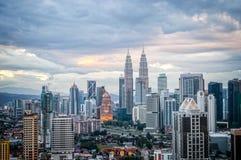 Aerial view of Kuala Lumpur skyline, Malaysia Stock Photography