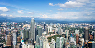 Aerial view of Kuala Lumpur skyline, Malaysia Royalty Free Stock Images