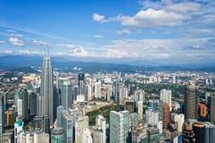 Aerial view of Kuala Lumpur skyline, Malaysia Royalty Free Stock Photo