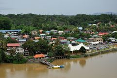 Aerial View of Kuching Stock Photo