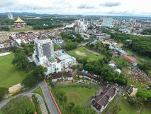 Aerial view of Kuching, the capital city of  Sarawak, Malaysia - Series 5 Royalty Free Stock Images