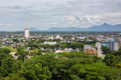 An aerial view of Kuching city in the stae of Sarawak. Malaysia Stock Image