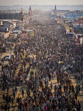 Aerial View of Kumbh Mela 2013 in Allahabad, India Stock Photos